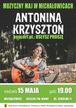 Muzyczny Maj w Michałowicach - Koncert Antoniny Krzysztoń